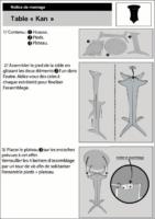 Notice de montage table KAN