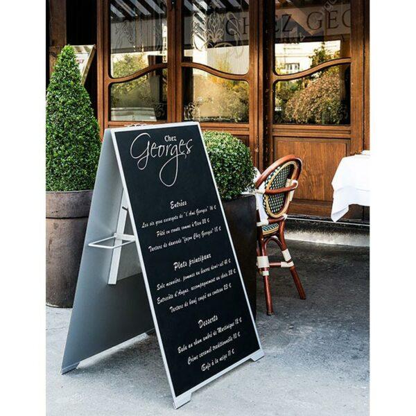 Chevalet pour menu de restaurant