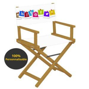 chaise realisateur personnalisable en bois