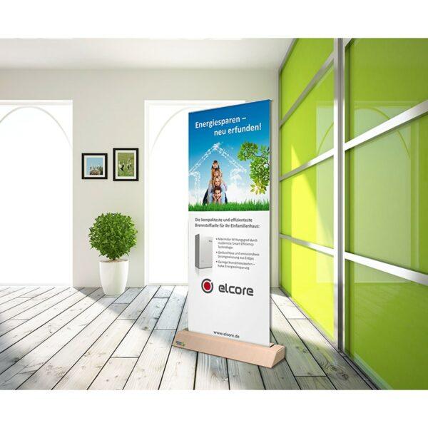 Exemple de présentation enrouleur recyclable et écologique