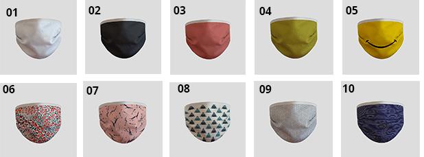 Sélection de modèle de masque réutilisable imprimé