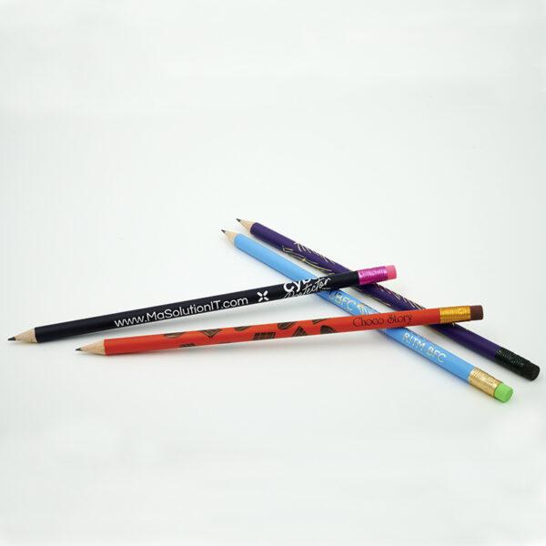 Crayon à papier personnalisé rond