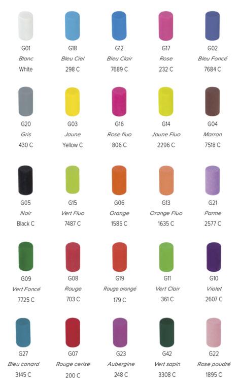 Choix de la couleur de la gomme sur un crayon papier publicitaire