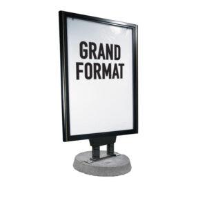 Porte affiche publicitaire avec pied béton